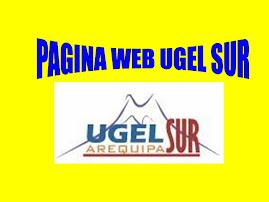 PAGINA WEB UGEL SUR