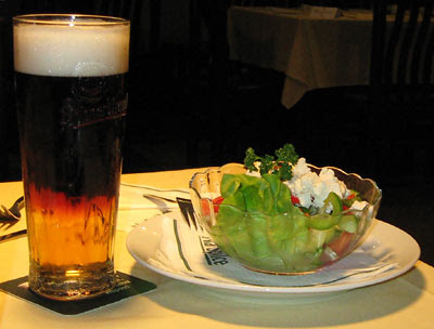 Пиво резаное. Чешское пиво в ресторане Пилснер