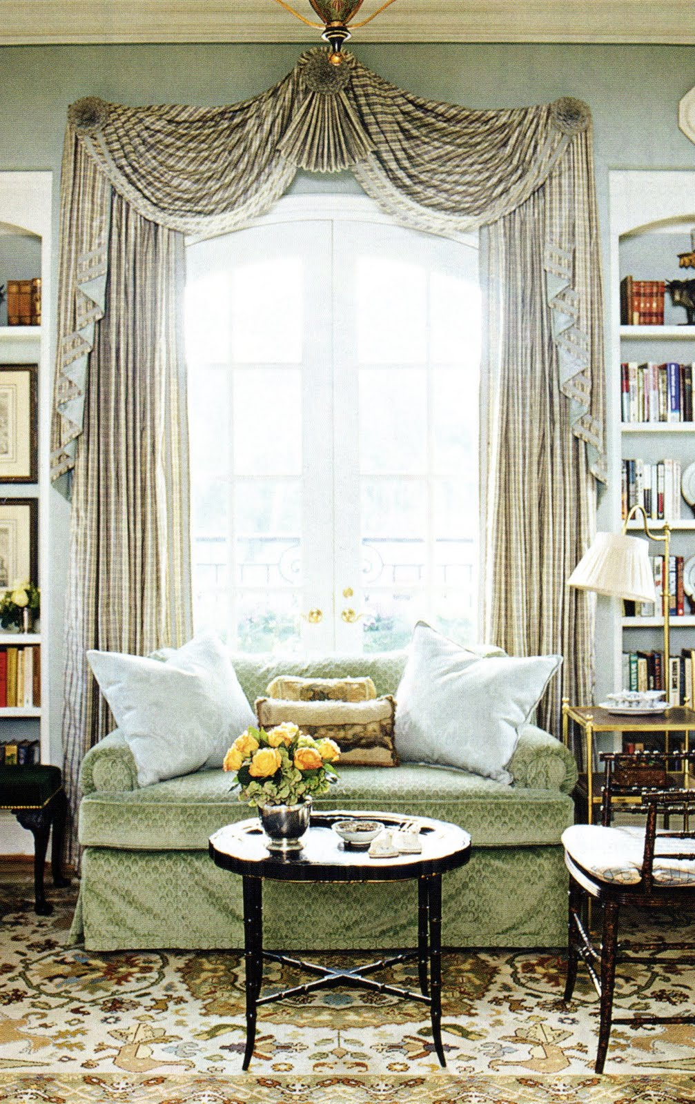A glossary of decorative window treatments the best Elegant window treatment ideas