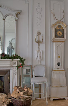 Gustavian style Fireplace setting