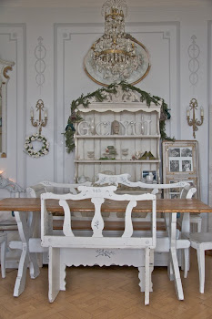 Antique Gustavian Swedish 1700s dining set and handmade bespoke country dresser