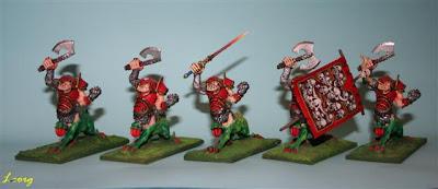 Warhammer: Conjunto de los 5 ogro dragón