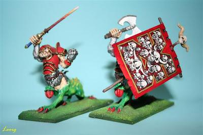 Warhammer: Ogro Dragón campeón y portaestandarte