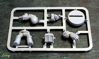Matriz de plástico de los Marines Espaciales con armadura de exterminador