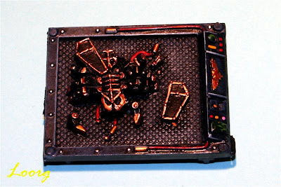 Edición limitada de los escarabajos canópticos de los necrones de Warhammer 40K pintada
