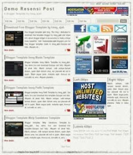 new blogger template resensi post. resensi post blogger template