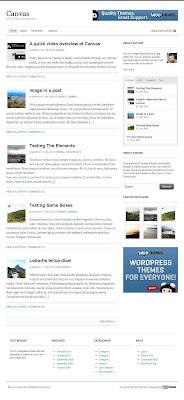 download wordpress theme white color. canvas wordpress theme