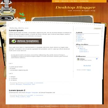 free blogger template Desktop Blogger  for blogspot template