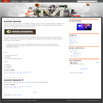 free blogger template Multimedia Blog for blogspot template