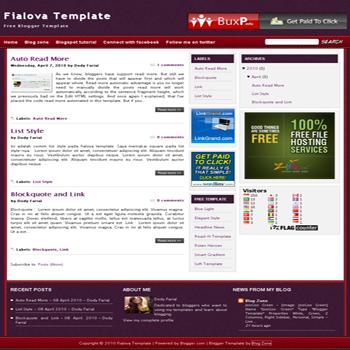 free blogger template magazine style