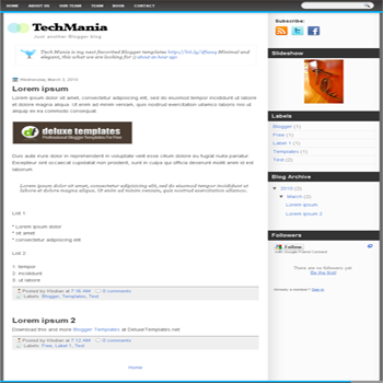 free blogger template Tech Mania for blogspot template