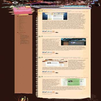 free blogger template convert wordpress theme to blogger Touching Music blogger template