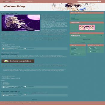 free blogger template AnimeBlog for blogspot template
