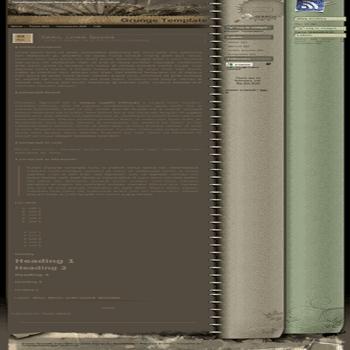 free blogger template Grunge convert WordPress Theme to Blogger
