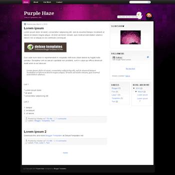 free blogger template Purple Haze for blogspot template