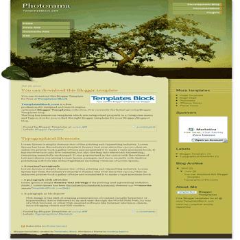 free blogger template convert wordpress theme to blogger Photorama blogger template