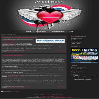free blogger template convert wordpress theme to blogger Angel Heart blogger template