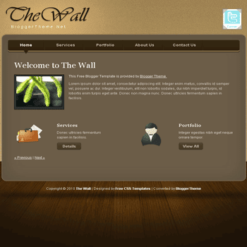 free blogger template convert CSS template to blogger The Wall blogger template