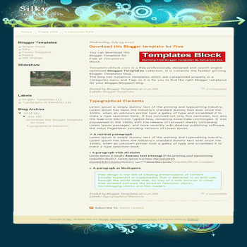 free blogger template convert website template to blogger Silky blogger template