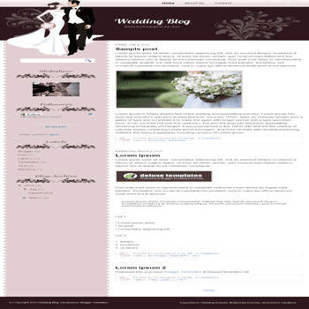 free blogger template Wedding Blog blogspot template