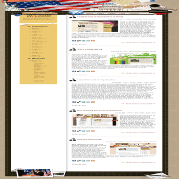 free blogger template convert WordPress to Blogger Star Spangled Banner blogger template