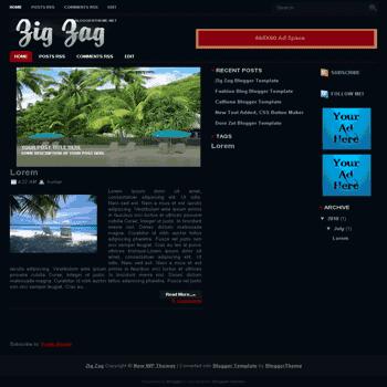 free blogger template convert wordpress theme to blogger template Zig Zag blogger template