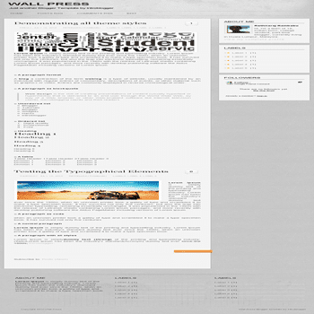 free blogger template Wall Press Blogger Template