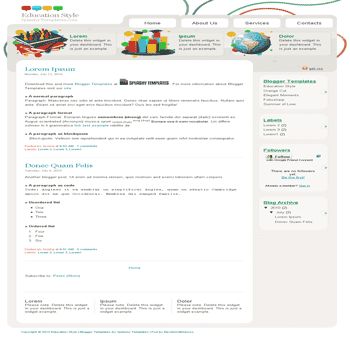 free blogger template convert wordpress theme to blogger template Education Style blogger template