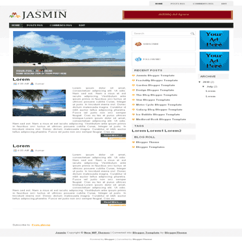 free blogger template convert wordpress theme to blogger template Jasmin blogger template