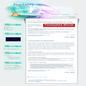 free blogger template converted from wordpress theme to blogger Fractality blogger template