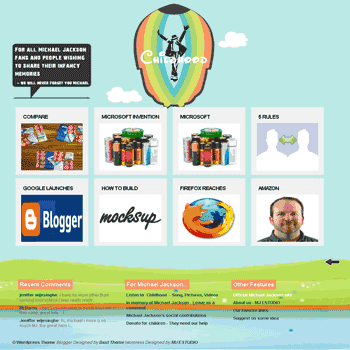 free blogger template converted from wordpress theme to blogger template Childhood blogger template
