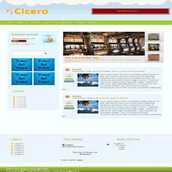 free blogger template convert wordpress theme to blogger template Cicero blogger template