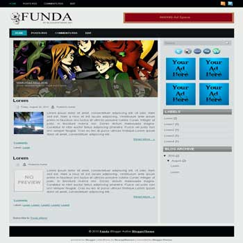 Funda free blogger template convert wordpress theme to blogger template with image slideshow template