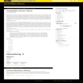 Predilection free blogger template converted from css template to Blogger template