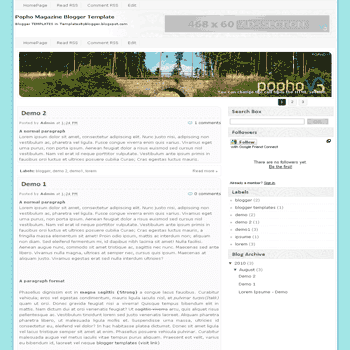 Popho Magazine free blogger template converted from wordpress theme to blogger template with slideshow blogger template