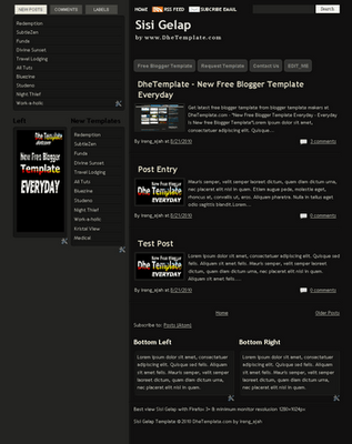 Free Blogger Template Sisi Gelap