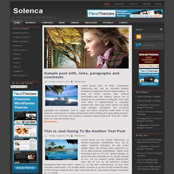 free blogger template Solenca magazine style blogger template with 3 column template,pagination for blogger and image slideshow blogger template blogger