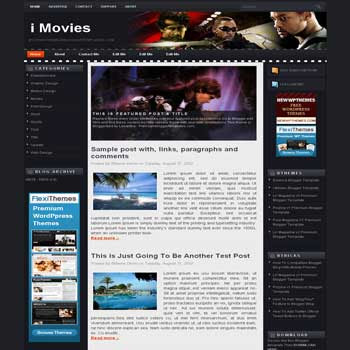 free blogger template i Movies magazine style blogger template with 3 column template,pagination for blogger and image slideshow blogger template blogger