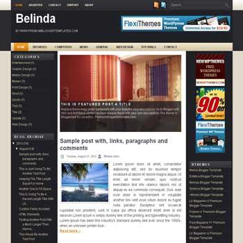 free blogger template Belinda magazine style blogger template with 3 column template,pagination for blogger and image slideshow blogger template blogger