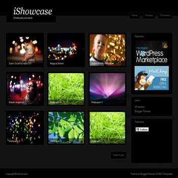 ishowcase blogger template for gallery and photo blog template