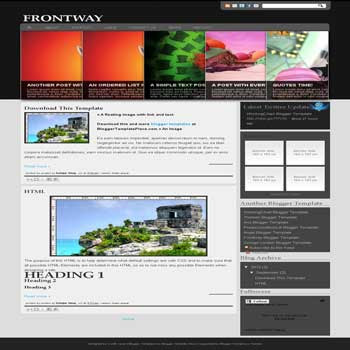 free Frontway blogger template convert from wordpress theme to blogger template with slider header template