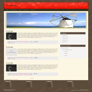 Proxima blogger template convert wordpress theme to blogger template with image slideshow blogger template