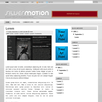 Silver Motion blogger template convert wordpress theme to blogger template