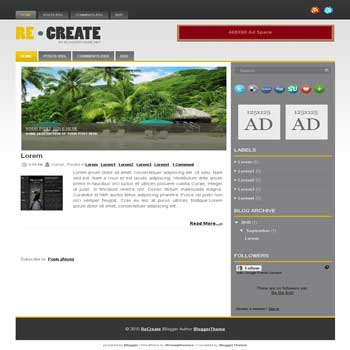 recreat blogger template convert wordpress theme to blogger template with image slideshow template