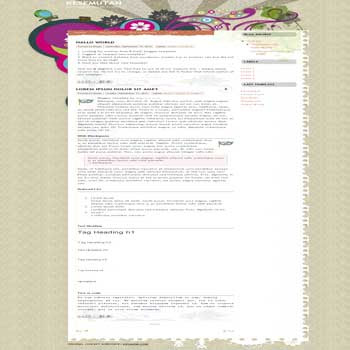 kesemutan blogger template with nice background template