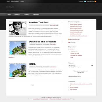 destyle blogger template magazine style converted from wordpress theme to blogger template