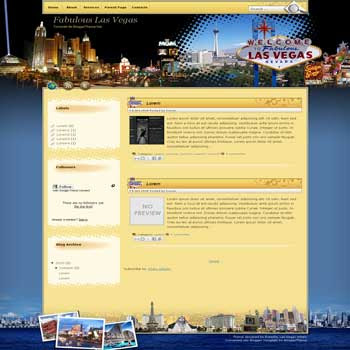 Fabulous Las Vegas blogger template convert wordpress theme to blogger template
