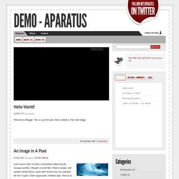 Aparatus blogger template convert from wordpress theme to blogger with clean blogger template also rabview for blogger ready