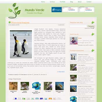 free Mundo Verde blogger template beautiful blog template for green template blog