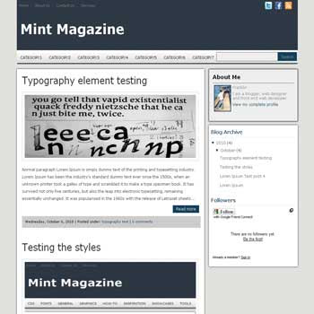Mint Magazine blogger template magazine style blogger template
